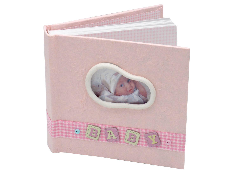 Album Gästebuch Fotoalbum Baby Taufe Geburt Rosa Erinnerungsalbum Mädchen Geschenk