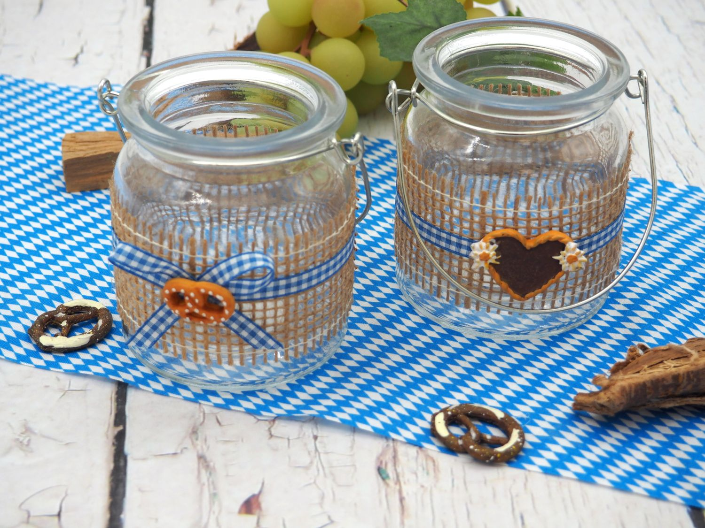 Tischband Dekoband Oktoberfest Raute Blau Weiß Tischläufer Stoffband Deko Mottoparty