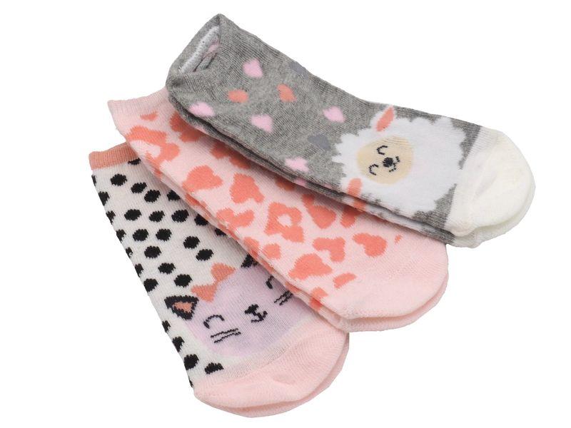 3 Paar Socken Kinder Sneaker Motivsocken Kurzsocken Bunt Kindersocken Mädchen