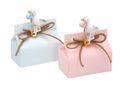 Gastgeschenk Taufe Storch Rosa Blau Streifen Geburt Junge Mädchen Geschenk Tischdeko 1