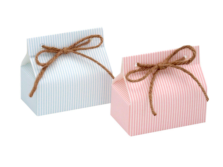 Gastgeschenk Taufe Rosa Blau Streifen Geburt Junge Mädchen Geschenk Tischdeko