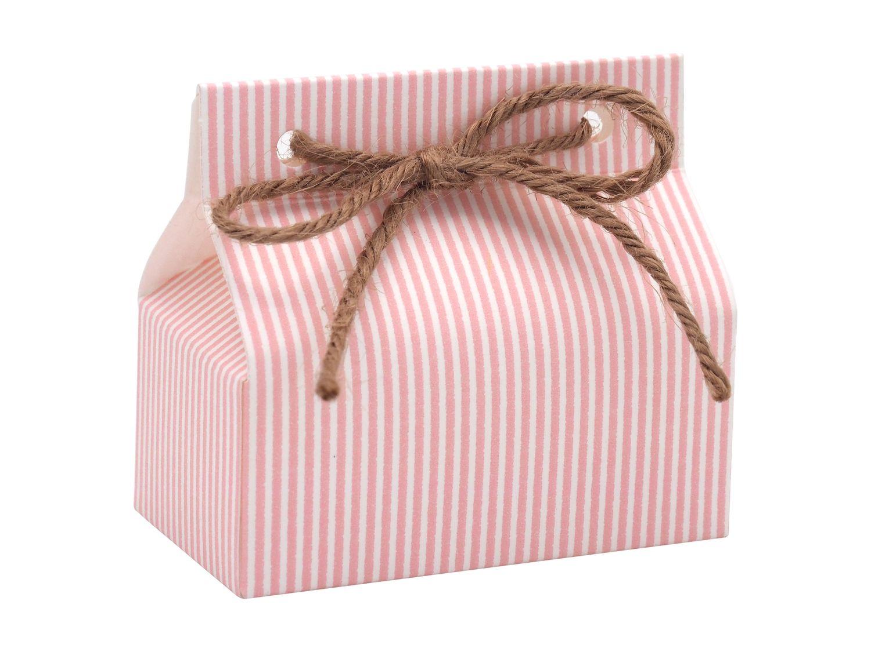Gastgeschenk Taufe Rosa Streifen Geburt Mädchen Geschenk Tischdeko