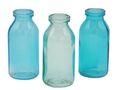 3 Vasen Türkis Glas Tischdeko Glasvase Blumenvase Deko Sommer 1