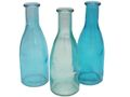 3 Vasen Glasflaschen Türkis Tischdeko Glasvase Blumenvase Deko Sommer 1