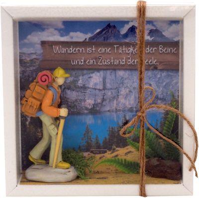 Geldgeschenk Verpackung Wanderer Wanderurlaub Berge Gutschein Urlaub Reise Geschenk Geburtstag