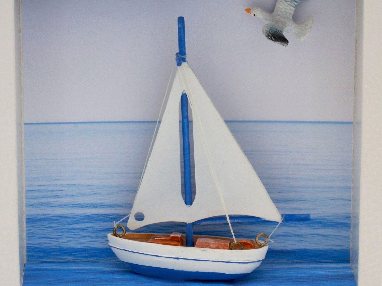 Geldgeschenk Verpackung Segelboot Segeln Reise Urlaub Meer Segelkurs Gutschein Geburtstag