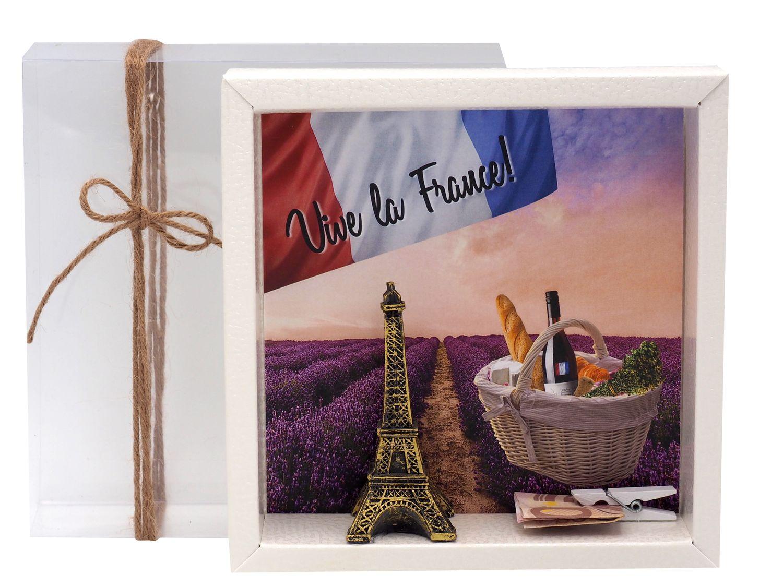 Geldgeschenk Verpackung Frankreich Paris Urlaub Reise Geldgeschenke
