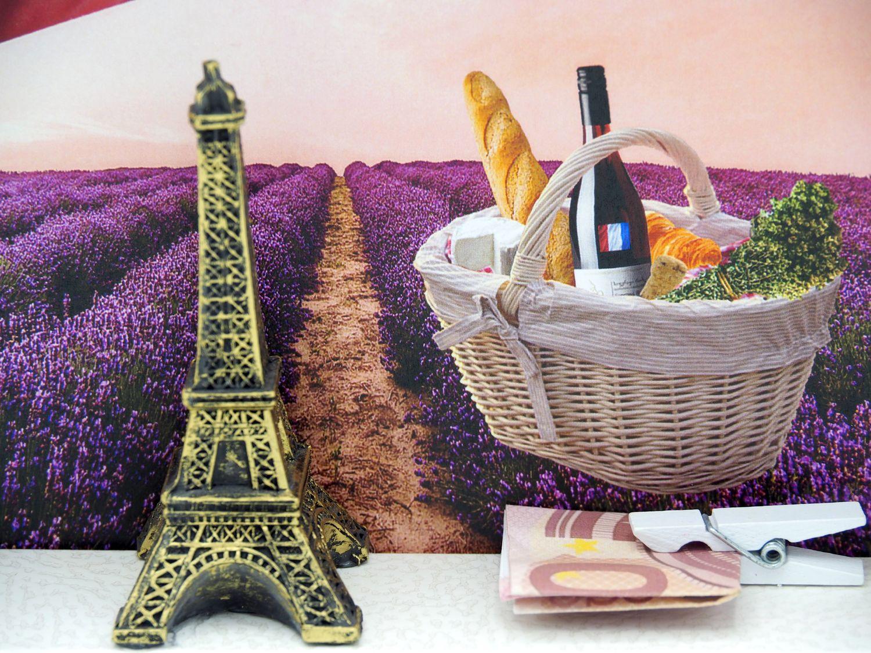 Geldgeschenk Verpackung Frankreich Paris Urlaub Reise Eiffelturm Gutschein