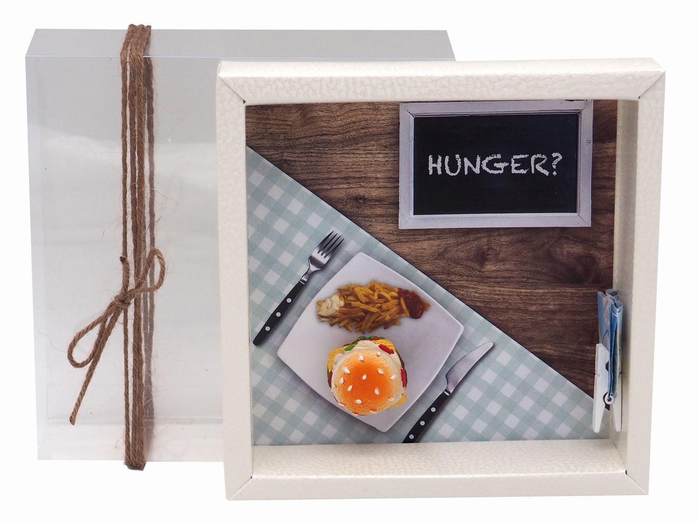 Geldgeschenk Verpackung Hamburger Essen Gutschein Geschenkgutschein Restaurant Gutschein Dinner-Geschenk