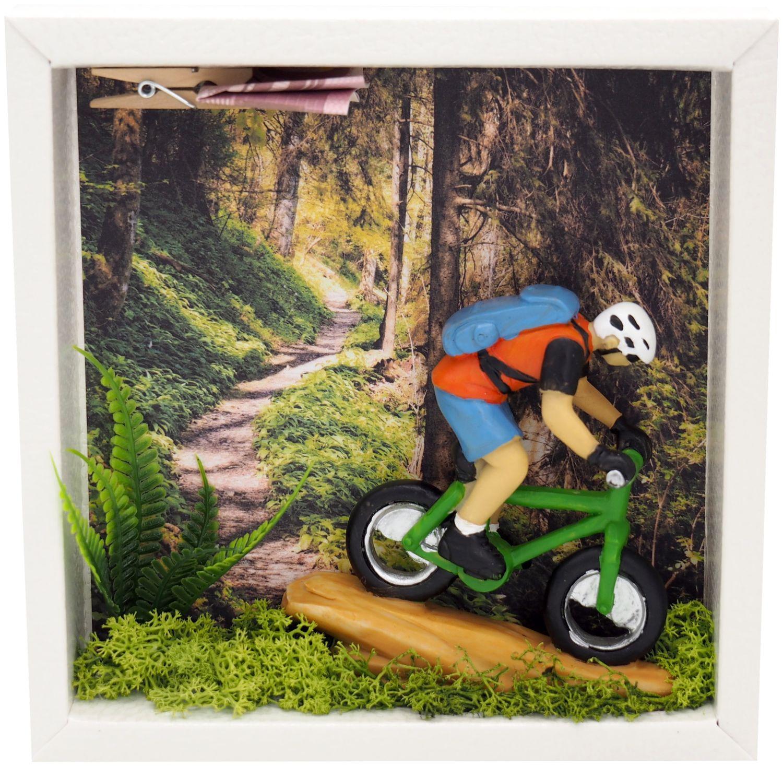 Geldgeschenk Verpackung Mountainbike Fahrrad Tour Mann Gutschein Sport Ausrüstung