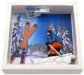 Geldgeschenk Verpackung Abfahrtslauf Ski fahren Winterurlaub Skiurlaub Berge Geschenk Skiausrüstung 2
