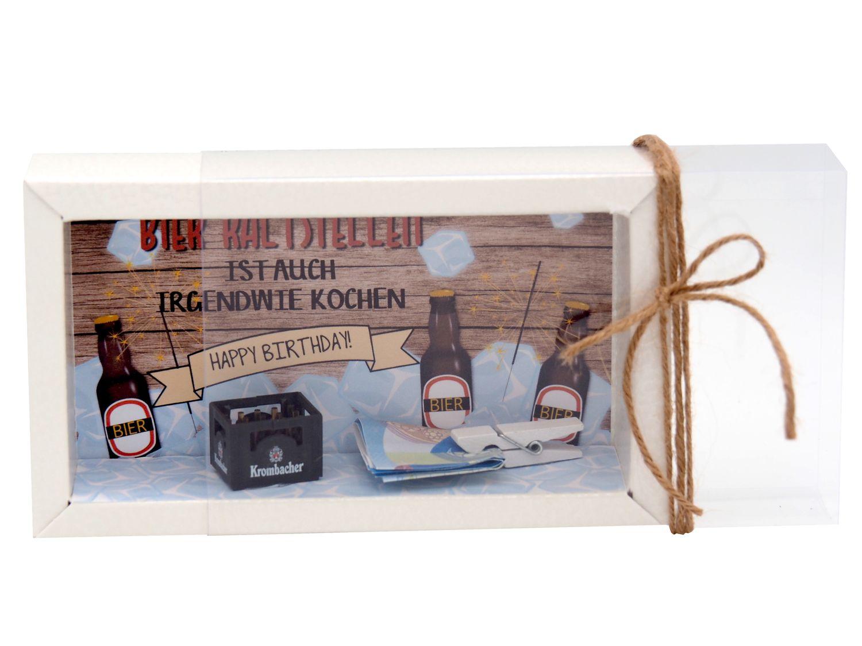 Geldgeschenk Verpackung Bier Happy Birthday Geschenk Männer Geschenkidee Geburtstagsgeschenk
