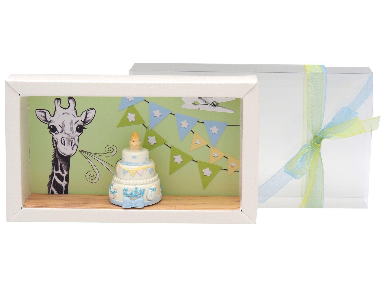 Geldgeschenk Verpackung Junge Giraffe Torte Geburt Geldgeschenke