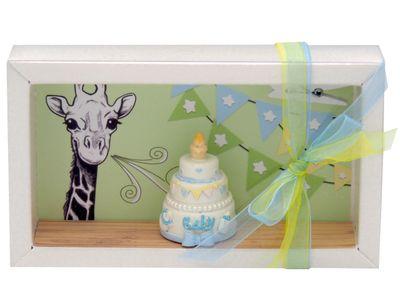 Geldgeschenk Verpackung Junge Baby Geburt Taufe Giraffe Torte