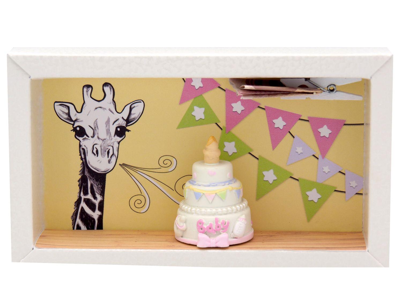 Geldgeschenk Verpackung Mädchen Baby Geburt Taufe Giraffe Torte Geschenk