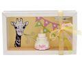 Geldgeschenk Verpackung Mädchen Giraffe Torte Geburt  001