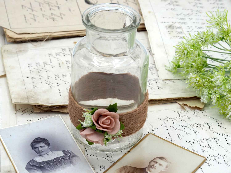2 Vasen Hochzeit Vintage Rosa Mellow Rose Tischdeko Amelie Hochzeit