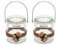 2 Windlichter mit Henkel Hochzeit Vintage Rosa AMELIE 001