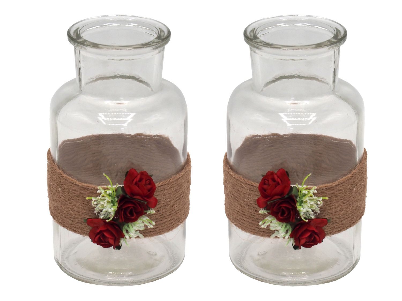 2 Vasen Hochzeit Vintage Rot Rosen Jill Hochzeit Tischdeko Vasen