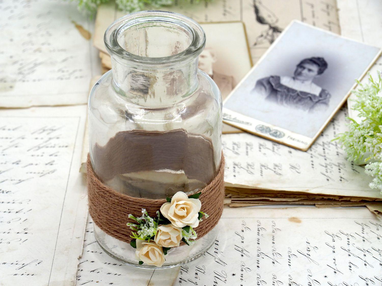 2 Vasen Hochzeit Vintage Creme Rosen Enie Hochzeit Tischdeko Vasen