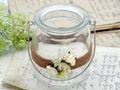 2 Windlichter mit Henkel Hochzeit Vintage Creme Rose Kerzenglas Tischdeko ENIE 2
