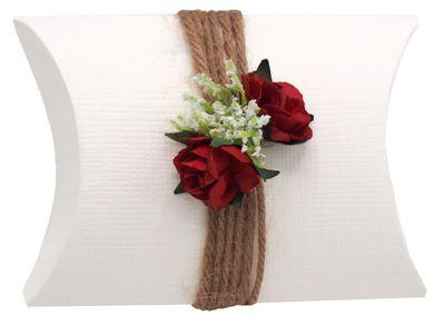 Gastgeschenk Schachtel Rot Rose Hochzeit JILL