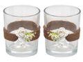 2x Teelichtglas Hochzeit Vintage Weiß Rose Tischdeko Kerzenglas ELLA 1