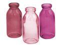 3 Vasen Rosa Mauve Pflaume Glas Tischdeko Hochzeit Kommunion Geburtstag Blumenvase Deko Herbst 3