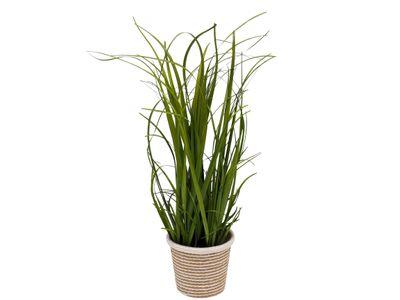 Kunstgras Kunstpflanze Kunstblume mit Topf Deko