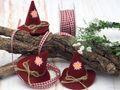 10x Filzhut Hut Deko Oktoberfest Rot Bayrisch Tischdeko Party Streudeko 3