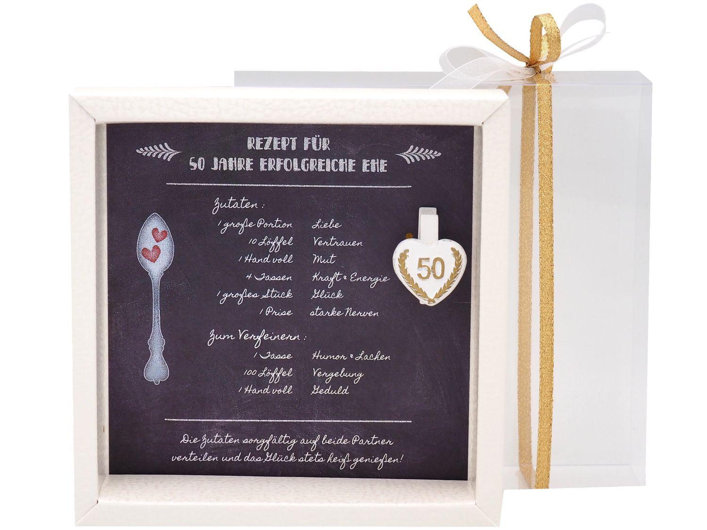 Geldgeschenk Verpackung Goldhochzeit Gutschein Geschenk Goldene Hochzeit Rezept für 50 Jahre Ehe