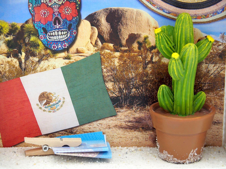 Geldgeschenk Verpackung Mexiko Urlaub Reise Fernreise Geldverpackung Kaktus