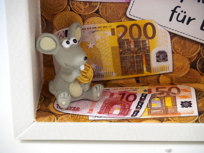 Geldgeschenk Verpackung Geldmäuse Mäuse Geld Geburtstag Geschenk