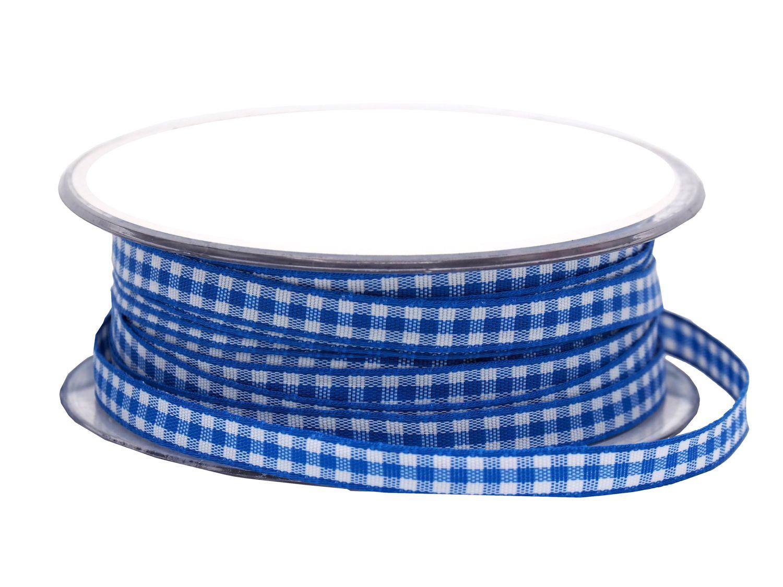 20m 10mm Karoband Blau-Weiss Dekoband Oktoberfest  Schleifenband Tischdeko Deko