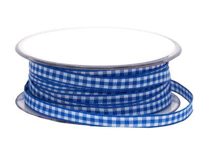 20m 10mm Karoband Blau-Weiss Dekoband Oktoberfest