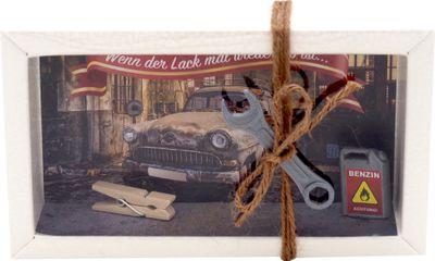 Geldgeschenk Verpackung Mann Auto Werkstatt Gutschein