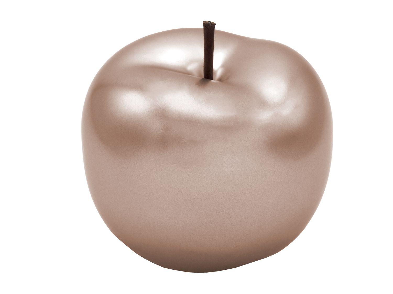 Dekofigur Apfel 12cm Keramik Perlmutt Rose Gold Dekoobjekt Rosegold