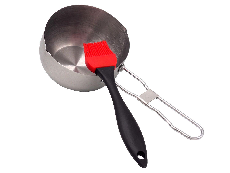 BBQ Grillset Edelstahl Saucentopf Soßentopf Marinierset Grillzubehör Silikonpinsel Grill