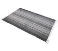 Teppich Musterteppich Grau Creme 120x180cm Baumwolle Fransenteppich Deko 001