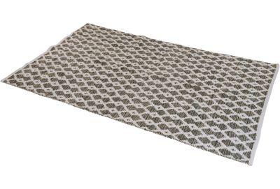 Teppich Gewebt Raute Braun Beige Grün Khaki 120x180cm Wendeteppich