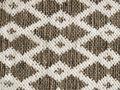 Teppich Gewebt Raute Braun Beige Grün 120x180cm Wendeteppich Baumwolle Läufer Rauten Muster 2