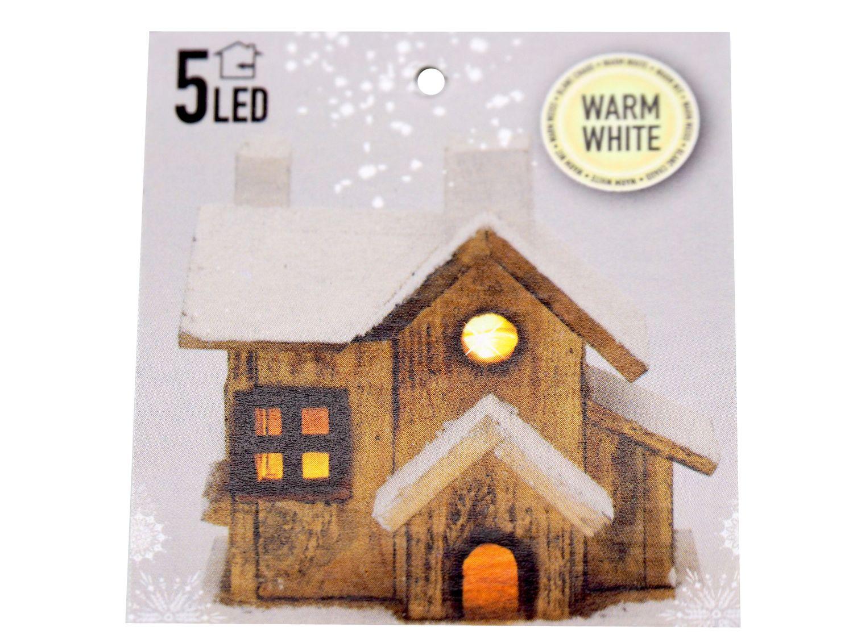 Deko Haus mit LED Beleuchtung Holz Weihnachten Licht