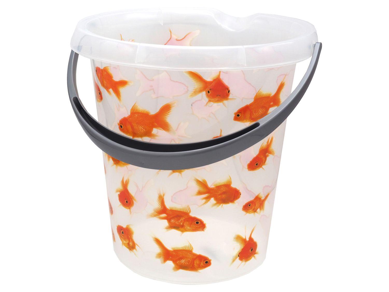 Putzeimer Wassereimer 12 Liter Motiv Goldfisch Eimer Kunststoffeimer
