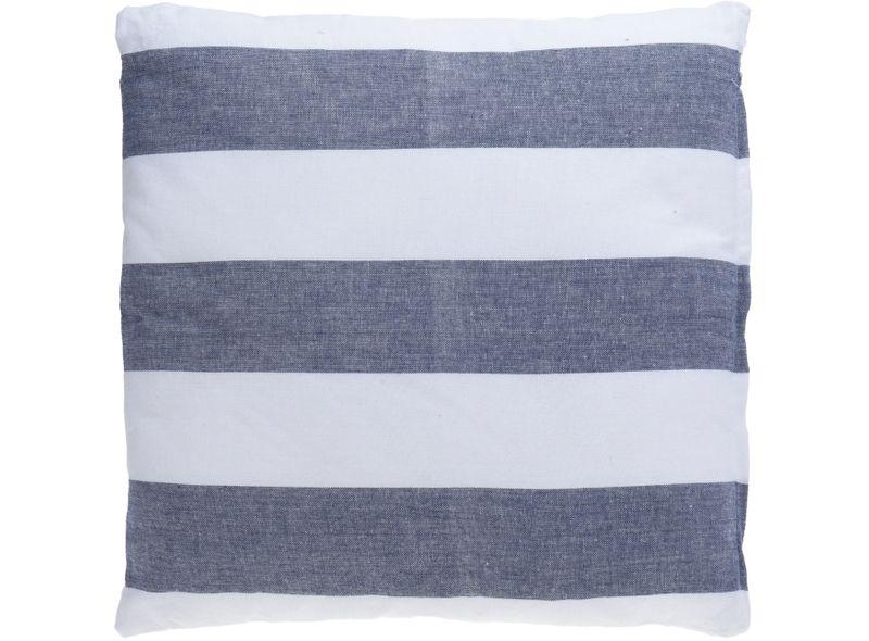 Kissen Dekokissen Streifen Weiß Blau 45x45 Gestreift Zierkissen Sofakissen Couchkissen