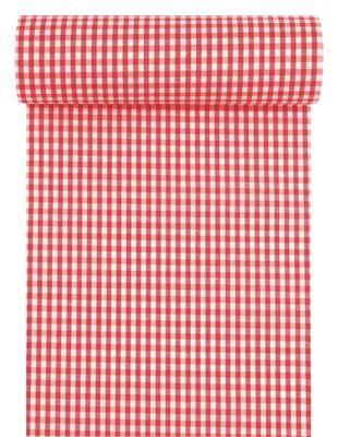 Tischläufer Tischband Stoff Kariert Karo Rot Weiß Oktoberfest Tischdeko 10m