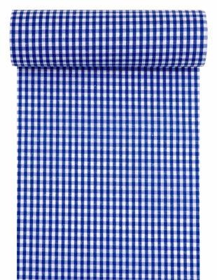 Tischläufer Tischband Stoff Kariert Karo Blau Weiß Oktoberfest Tischdeko 10m
