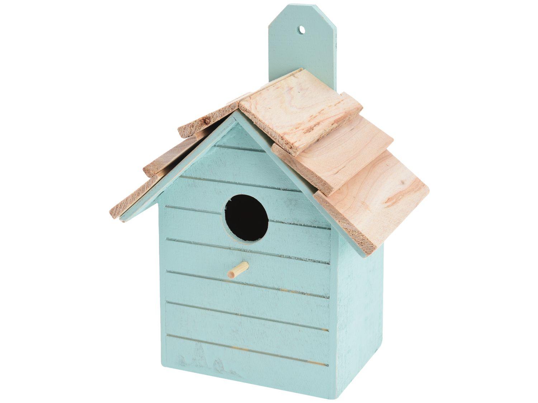 Vogelhaus Holz Mint Deko Garten Terrasse Nistkasten Vogelhäuschen