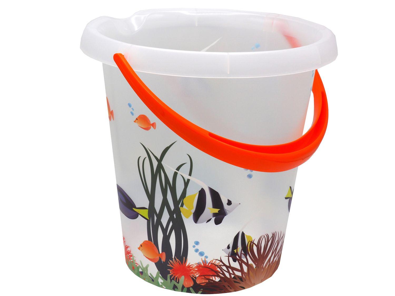 Putzeimer Wassereimer 12 Liter Motiv Fisch Eimer Kunststoffeimer