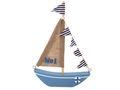 Schiff Segelboot Boot Holz Maritim Segeln Taufe Blau Deko 001