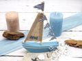 Deko Segelboot Holz Maritim Dekoschiff Tischdeko Urlaub Segeln Meer Geschenk 3
